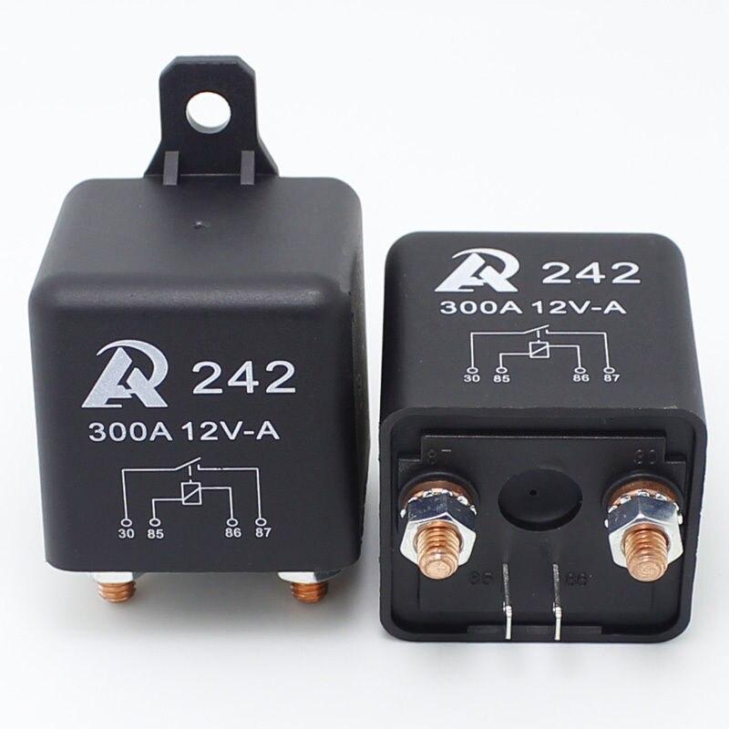 Interrupteur relais 300A   2 pièces-interrupteur robuste 12VDC pour le stockage de batterie de bateau de voiture automobile
