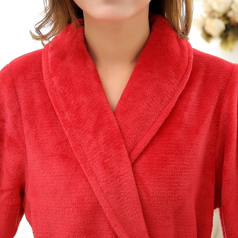 Unisex Mens Women\'s Long Polyester Sleep Lounge Robes RBS-C LYQ114 2
