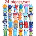 2016 Novo 24 pçs/set 5 cm Anime Brinquedos Dos Desenhos Animados Slugterra Figuras de Ação PVC Mini Toys Dolls Criança