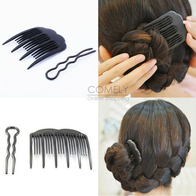 Fine Aliexpress Com Buy Black Plastic Updo Bobby Pin Comb Set Diy Hairstyles For Men Maxibearus