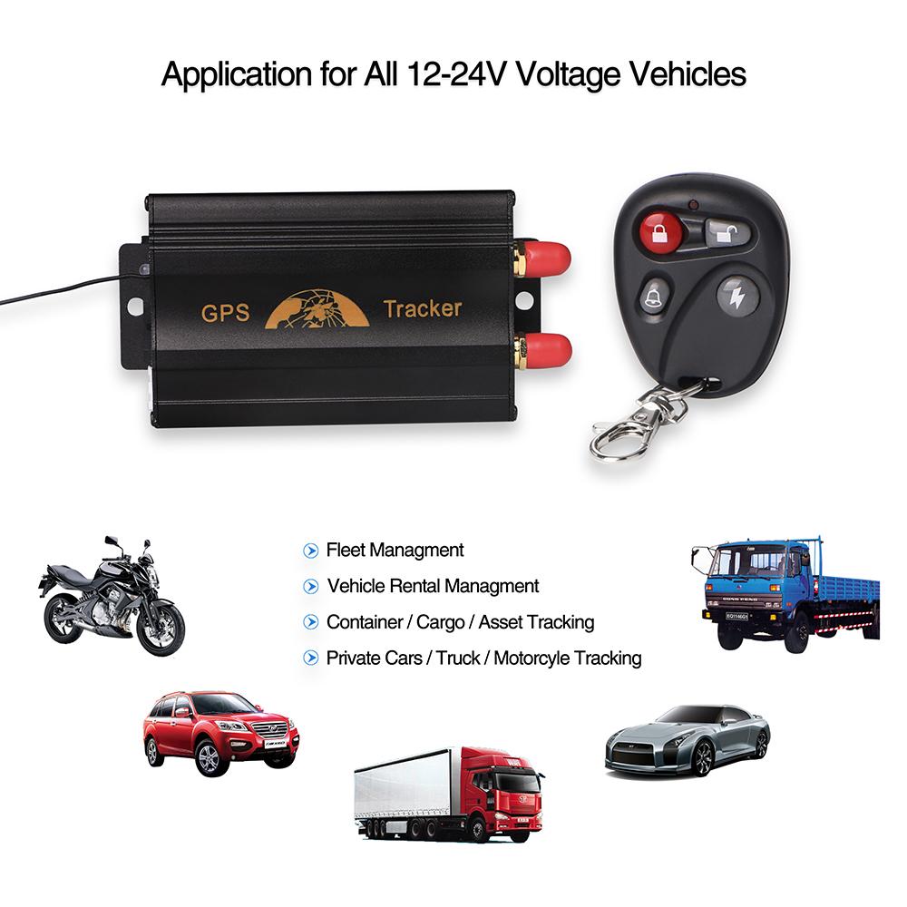 Prix pour Voiture GPS Tracker Coban TK103B GSM GPRS Système de Suivi GPS103B Moto Alarme Emplacement Tracker Télécommande Coupez Huile Puissance