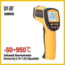 RZ Ir nhiệt kế Hồng Ngoại man hinh cầm tay kỹ thuật số điện tử độ xe không-liên hệ với máy đo ẩm 950 công nghiệp C