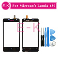 "Original 4.0"" For Nokia Microsoft Lumia 430 N430 Touch Screen Digitizer Sensor Panel Front Glass+Free Tools Free Shipping"
