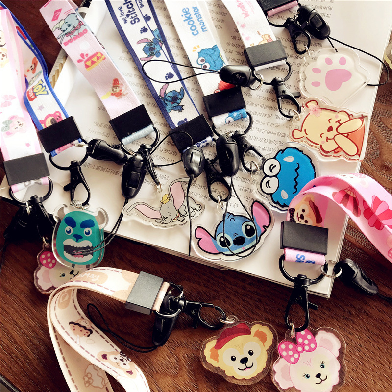 Creative Cartoon Neck Strap Lanyards For ID Card Student Nurse Exhibition ID Name Card USB Badge Holder Hang Rope