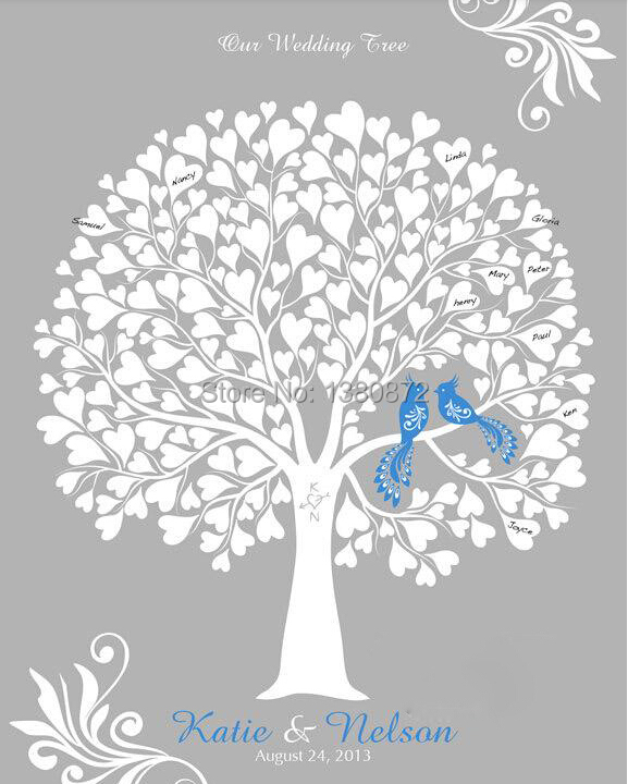 30 40cm guest signing signature wedding tree signing board love tree