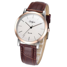 Men's Watch Ultra-thin Korean Casual Men's Watch Waterproof Simple Student Quartz Women's Watch with leather watchbelt