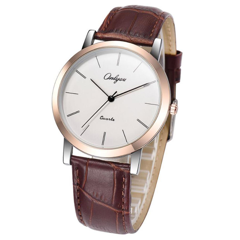 Mens Watch Ultra-thin Korean Casual Mens Watch Waterproof Simple Student Quartz Womens Watch with leather watchbeltMens Watch Ultra-thin Korean Casual Mens Watch Waterproof Simple Student Quartz Womens Watch with leather watchbelt