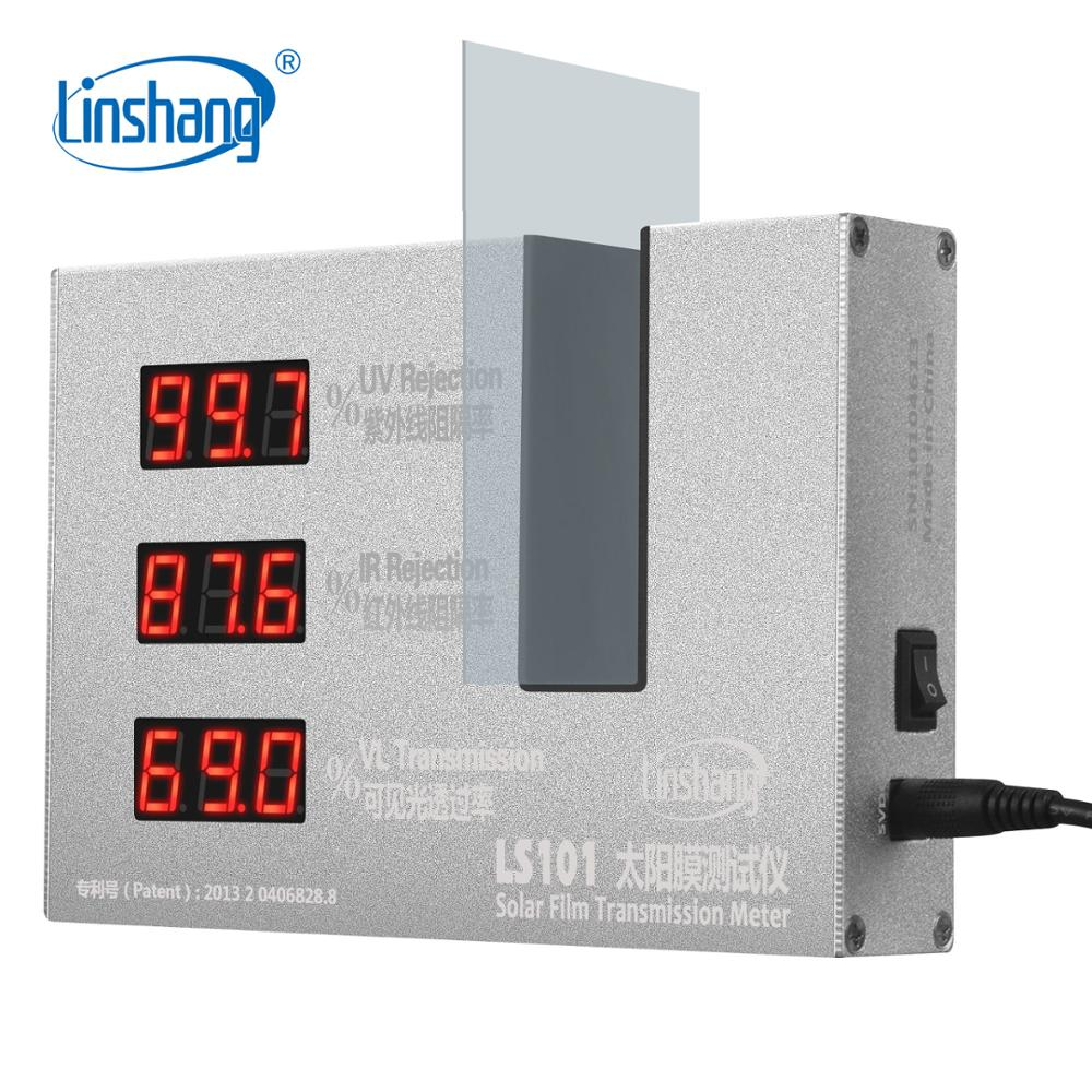 Linshang LS101 Window Tint Transmission Meter for glass film with 365nm UV 950nm IR Rejection 550nm