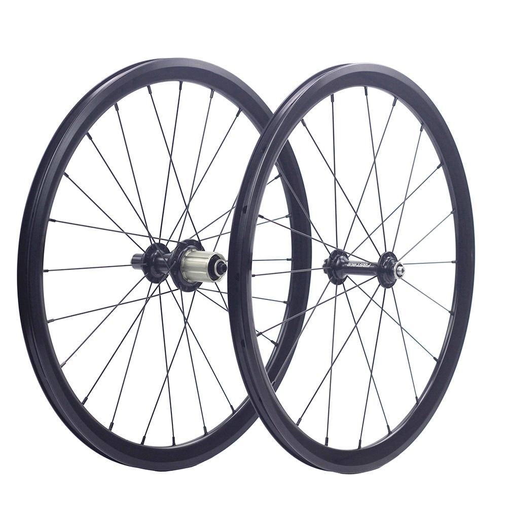 "Silverock 20"" 1 1/8"" 451 406 Alloy Minivelo Wheels XR270 100mm 130mm Rim V Brake for Folding Recumbent Bike Mini velo WheelsetBicycle Wheel   -"