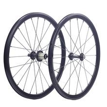 """Silverock 20"""" 1 1/8"""" 451 406 Alloy Minivelo Wheels XR270 100mm 130mm Rim V Brake for Folding Recumbent Bike Mini velo Wheelset"""