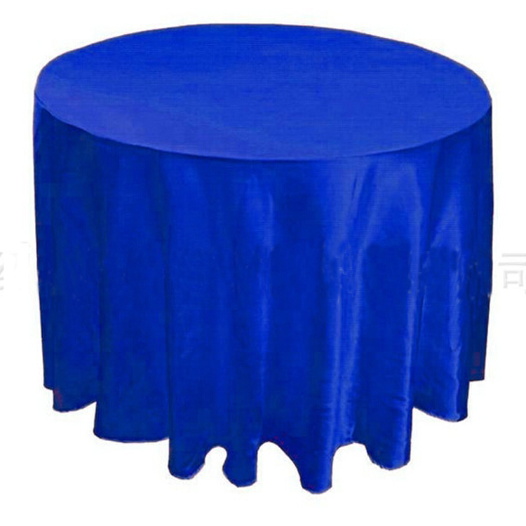 20pcs blue 50 120 round polyester plain party table cloth for 120 round table cover