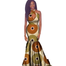 2018 New African Dresses for Women Wax Print Bazin Riche Sexy Party Hollow  Out Dress Plus . 6f79a1772434
