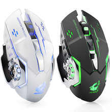 Rechargeable X8 Wireless Silent LED Backlit USB Optical Ergonomic Gaming noiseless Mouse For PC Laptop Desktop 0514
