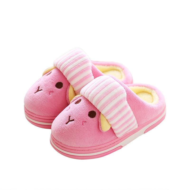 Winter Kinder Baumwolle Hausschuhe Kinder Warme Cartoon Kaninchen Von Einrichtungs Schuhe Nette Mädchen Baby Jungen Indoor Rutschfeste Slipper