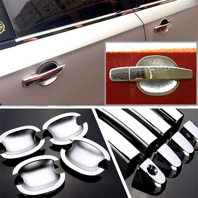 $ 28.19 Non-Rusty Chrome Door Handle Bowl Cover Cup Overlay Trim For Chevrolet Lova