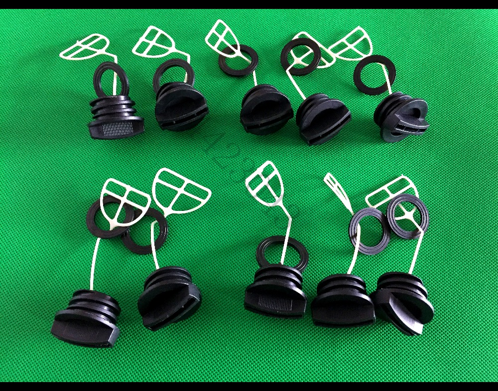 5SETS(10PCS) 45cc/52cc/4500/5200 Chainsaw Fuel Cap And Oil Cap For Chinese Chain Saw Tank Replacement Parts