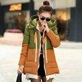 2016 Mulheres Jaqueta de Inverno Parka Amassado Jaqueta Feminina Outerwear Espessamento Ocasional Das Mulheres para baixo casacos jaqueta de inverno das Mulheres do algodão