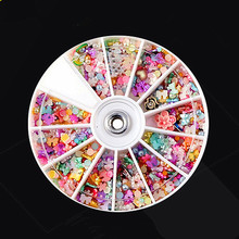 3D Nail Art Decoration Mix Size Resin Rhinestone Flatback Beads Different Shapes Flower 12 Colors Sorts Of Sticker For DIY