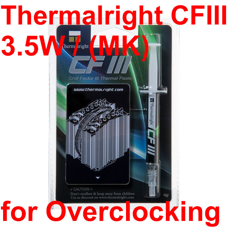 Thermal right CFIII 4g / for Overclocking / the top thermal grease silicone / thermal paste / packaging vichy бальзам для губ aqualia thermal 4 7 мл бальзам для губ aqualia thermal 4 7 мл 4 7 мл