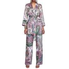 hot deal buy casual women suits vintage pants suit purple paisley print blazer elastic waist long pants suits 2 pieces sets
