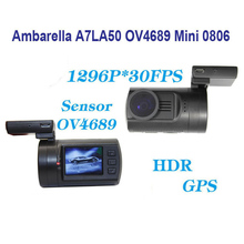 Discount! Free Shipping!! Original Newest Upgrade Mini 0806 Full HD 1296P 30FPS Ambarella A7LA50 OV4689 Car DVR GPS Dash Camera