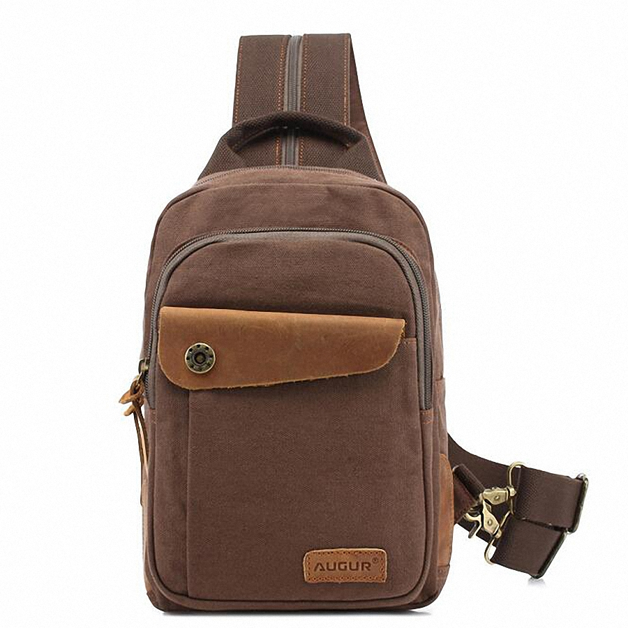 Vintage Canvas Men Messenger Bags Small Travel Chest Pack Bag Casual Crossbody Shoulder Sling Bag For Ipad LI-1413 fashion casual canvas leather patchwork men s bags durable travel messenger bags crossbody chest pack bag