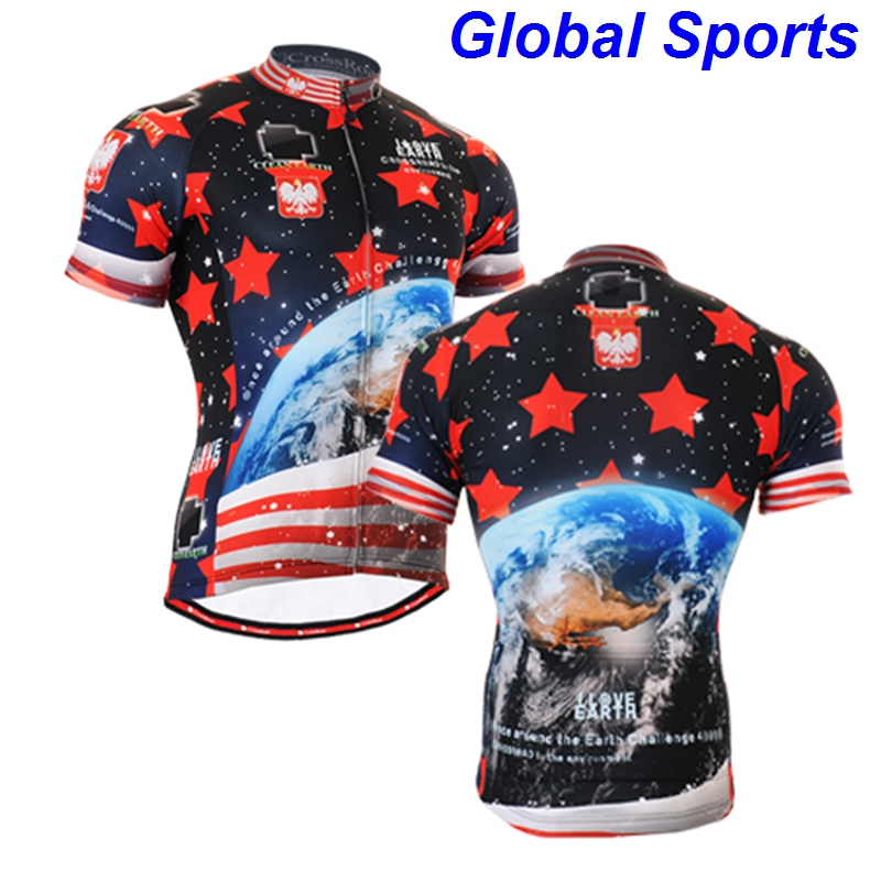 2017 Brand Ocean Men Short Sleeve cycling jersey sea Bicycle bike Tourist Rider clothing Apparel different style