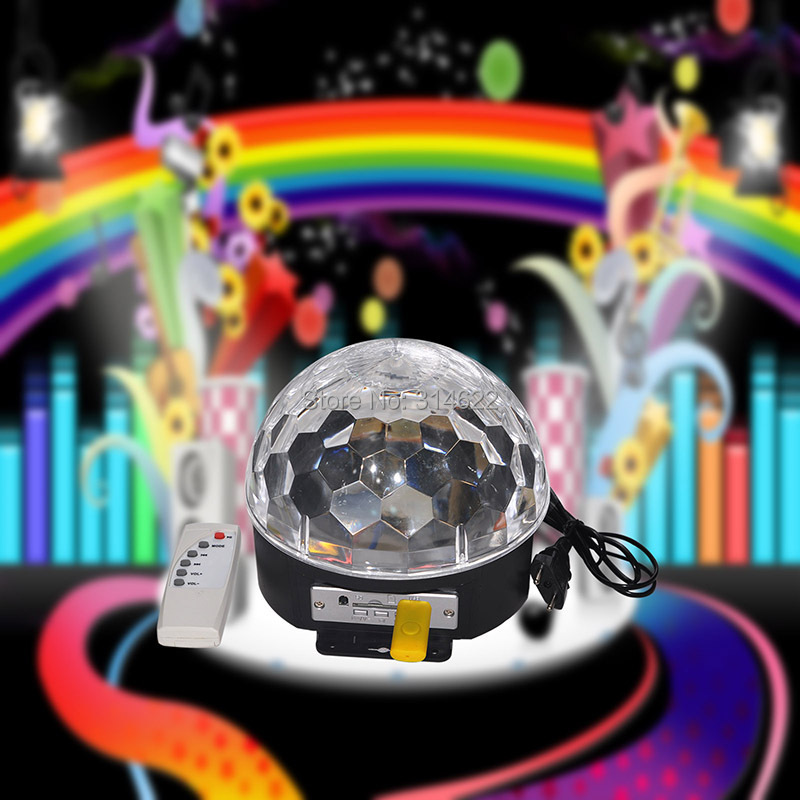 Hot sale for Christmas!Disco DJ Stage Lighting Digital LED RGB Crystal Magic Ball Effect Light for Xmas Party and New year Party mini rgb led party disco club dj light crystal magic ball effect stage lighting