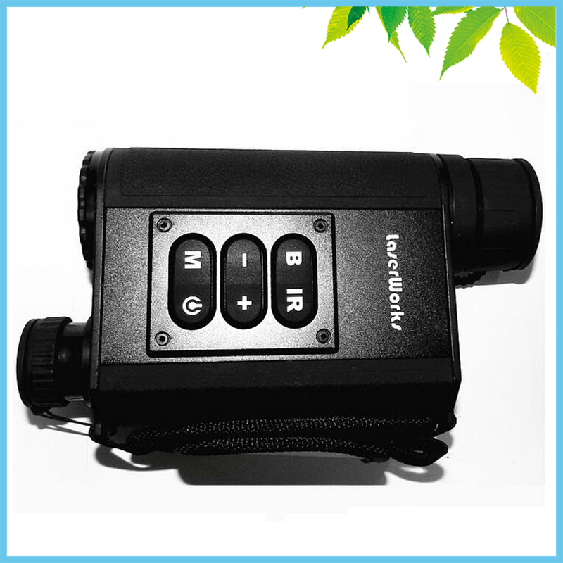 500m Black Digital IR Night Vision Laser Rangefinders Scope Compass Atmospheric Temperature Security Positioning Metal Body