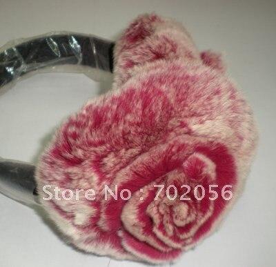 Rex Rabbit Fur Earmuffs Ear Warmer Mixed Color 5pcs/lot #2325