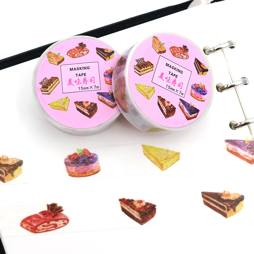 7m*15mm Delicious Food Washi Tapes Diy Home Decoration Paper Masking Tape Material Escolar Papel Scrapbook 1 PCS