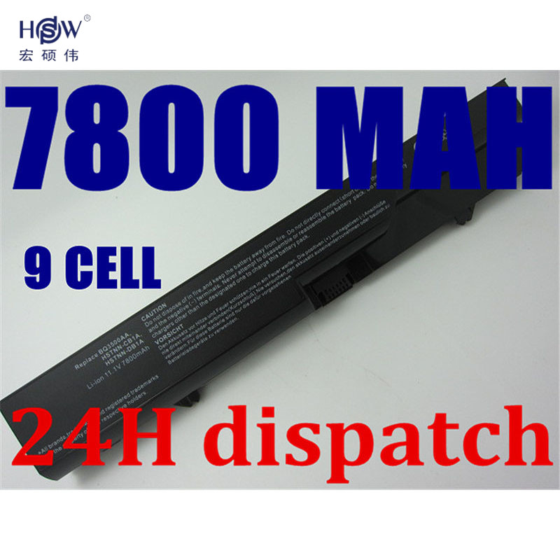 HSW 7800MAH 9cell Laptop battery For HP ProBook 4320 4320s 4321 4321s 4320t 4325s 4326s 4420s 4421s 4425s 4520 4520s 4525s 4720s