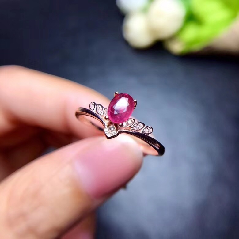 Natural ruby ring Free shipping Natural and real ruby 925 sterling silver 4*6mm gemstoneNatural ruby ring Free shipping Natural and real ruby 925 sterling silver 4*6mm gemstone