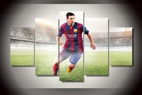 Canvas Wall Arts Of Messi High Quality Wall Pictures For Your Child The Famous Football Player