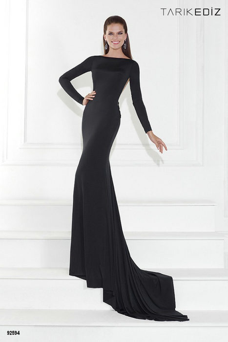 formal black dresses with sleeves - Dress Yp