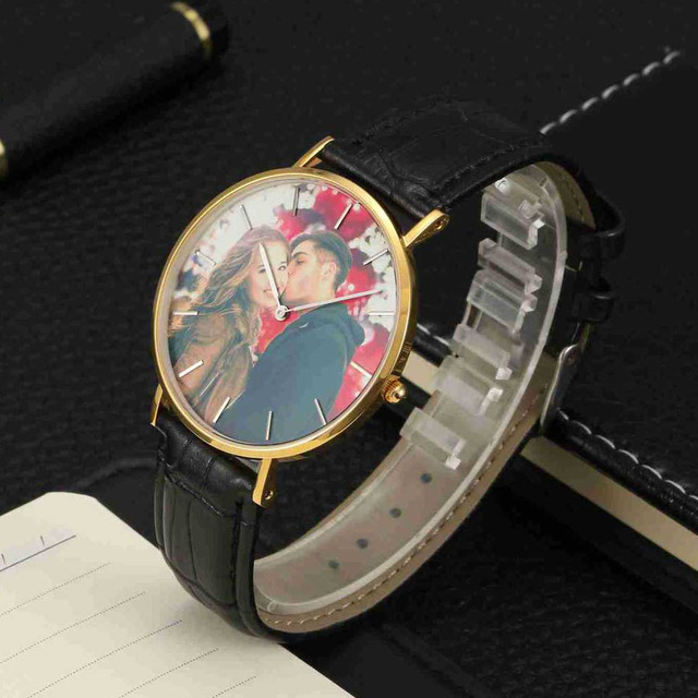 Amxiu Wrist Watch Print with Client's Picture Custom Photo Watch Personalized Lu