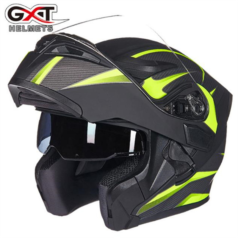 Quality Flip up Motorcycle helmet Double lens helmet GXT 902 model motorbike helmet for adults four season full face casco red green lines double lens motorcycle crash helmet high quality flip up electric motorbike full face motorcycle helmet