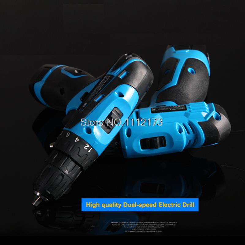 ФОТО High quality 21V Tow-speed selection Cordless electric drill +1pc *Rechargeable Battery electric screwdriver power tool