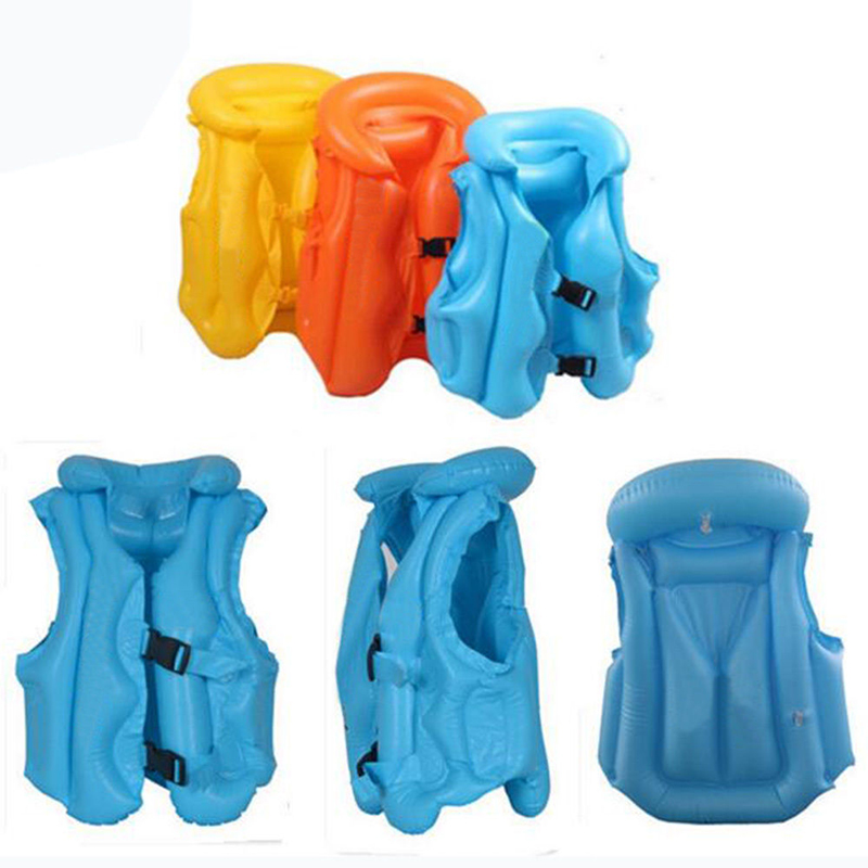 Children Swim Vest Kid Swimming Learning Jacket Inflatable Safety Training Baby Float Ring Beach Swimming Pool Vest