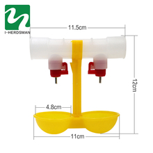Poultry Water Drinking Cups 12PC Nipple Yellow Double Hanging Cup Automatic Waterer Bowl Chicken Feeder EquipmentQuail feeders