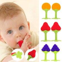 Безопасный фруктовый детский Прорезыватель Прорезыватели для зубов пищевой силиконовый Прорезыватель для Зубов Стоматологический уход укрепляющий зуб тренировка