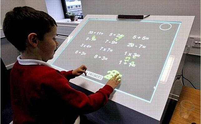 Tableau blanc électronique interactif Multi tactile IR de calibrage automatique, tableau blanc interactif portatif de contact de doigt