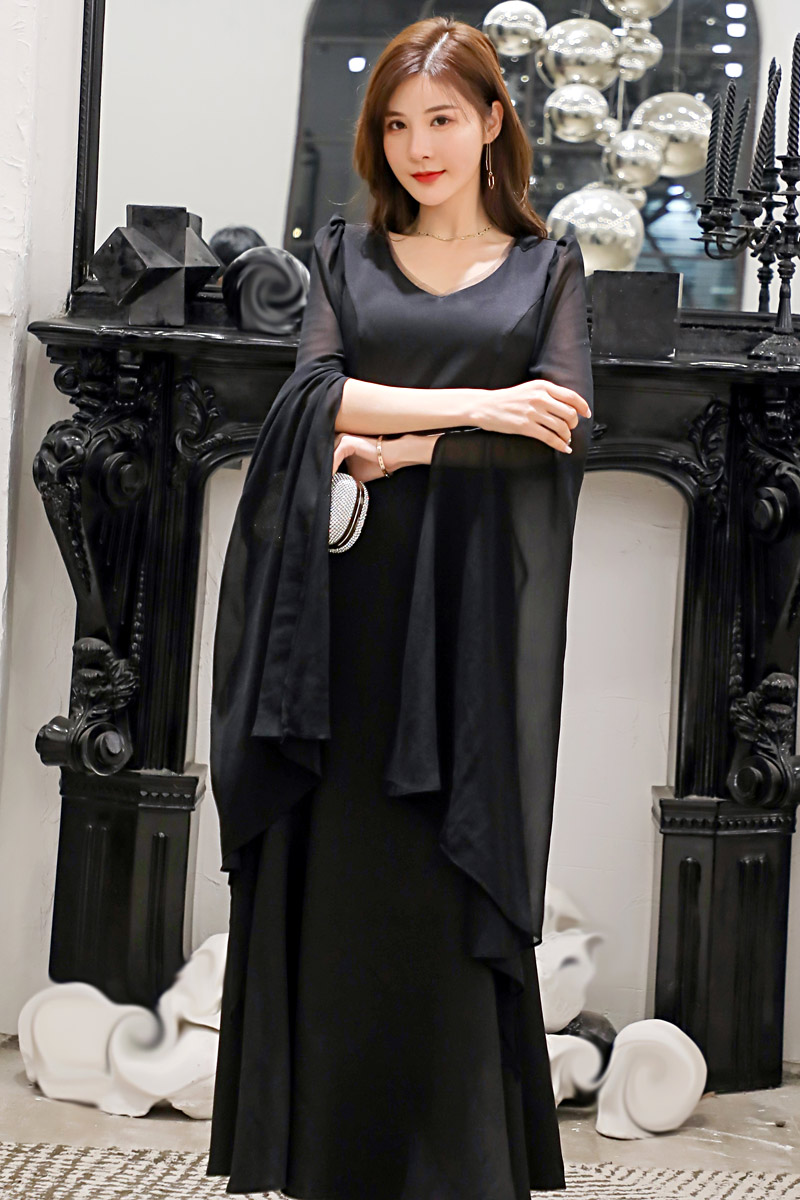 f1f2495f8773 2019 Donne ~ Di Club Partito Signora Femminili Vestito Più Elegante Modo  Nero Grande Del Increspature Sera Da Il rosso 4xl Lungo M Della Estate ...