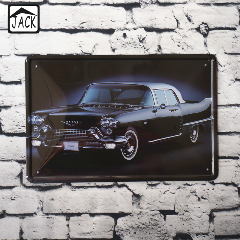black car advertising retro 20x30cm vintage tin plate metal tin signs wall decor garage club. Black Bedroom Furniture Sets. Home Design Ideas