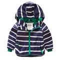 Stripe bebê criança do sexo masculino com um capuz outerwear ao ar livre jaqueta de roupas de primavera 2016 das crianças u770