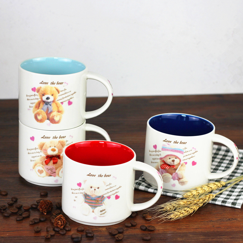 Permalink to Drinkware 350ml Bursts of personality cartoon ceramic mugs color large capacity mugs advertising promotional gifts mug 1pcs