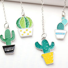 Creative Cartoon Flamingo Green Cactus Plant Colorful Star Pendant Bookmark Lovely Student Gift Stationery School Office Supply(China)
