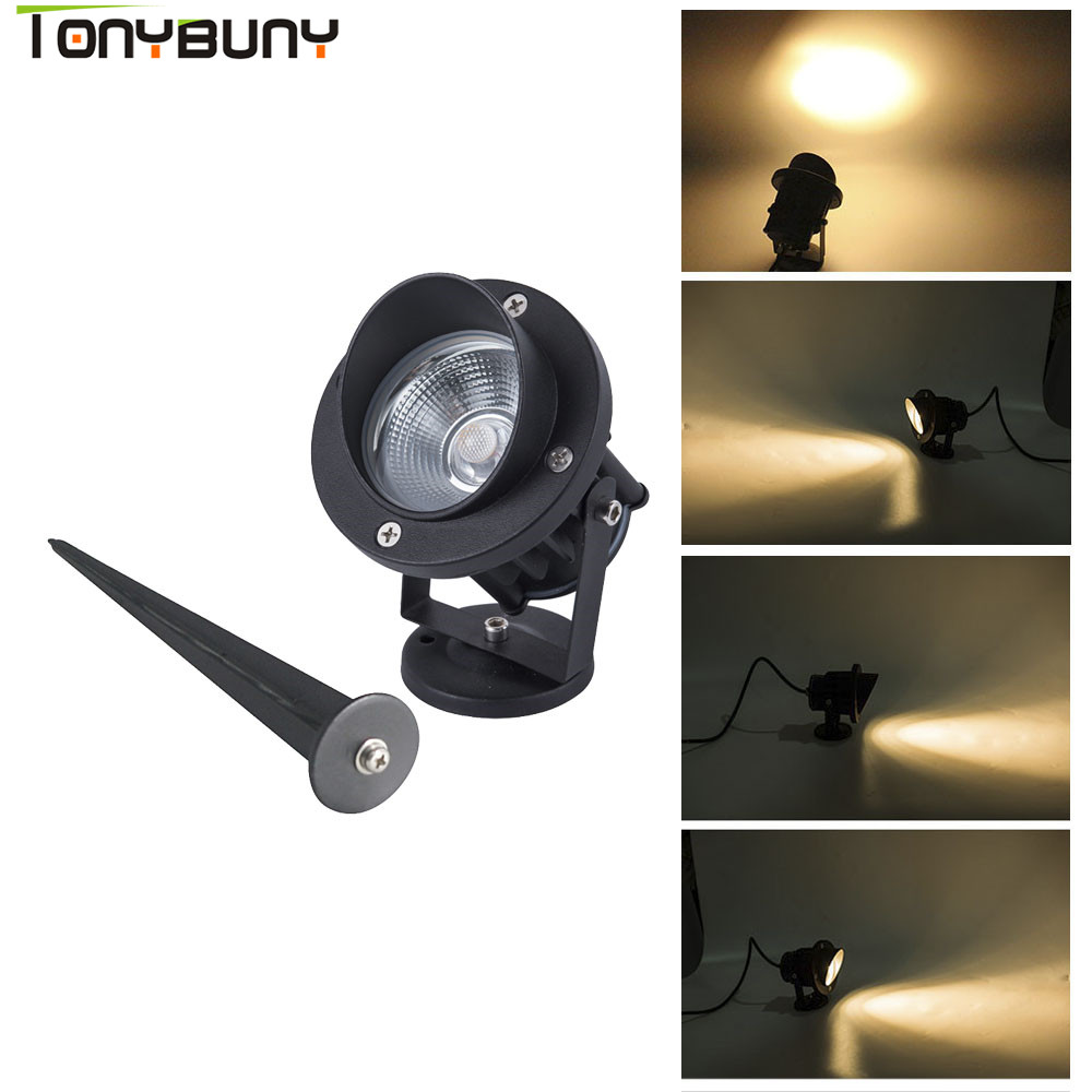 High Power with Tip Led Floodlight 3W 5W Outdoor Spotlight Flood Light AC 110V 220V Waterproof IP65 Professional Lighting Lamp