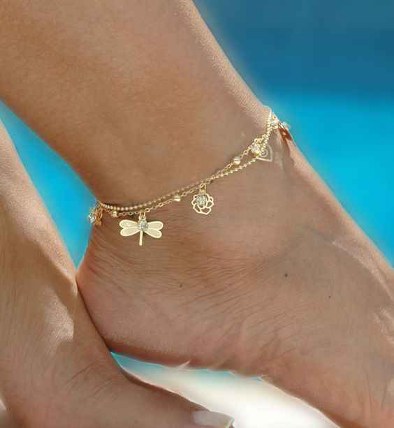 Kobiece motylkowe obrączki boso szydełkowe sandały bransoletka na nogę stopy bransoletki na nogę damski łańcuszek