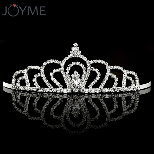 Clear Rhinestone Crown Headband Silver Wedding Tiara Hair bands Bridal  Diadem Hair Accessories Girls Hairwear Birthday 381f1e8fb9ae